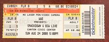 2008 WWE Smackdown & ECW Live Wrestling Ticket Triple H Bestatter Canton, oh