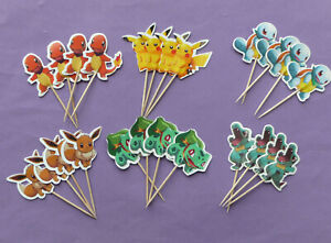 POKEMON GO CAKE TOPPERS PICKS kids birthday party Pikachu Squirtle choose no