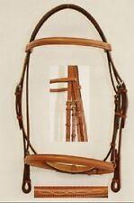 EDGEWOOD FANCY RAISED PONY BRIDLE - NEWMARKET BROWN