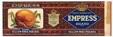EMPRESS Brand, San Francisco, *AN ORIGINAL 1920's TIN CAN LABEL* wear K37