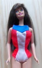 """1975 BARBIE 11"""" mattel doll -- GOLD MEDAL -- OLYMPIC SWIMSUIT tt"""