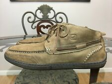 Sperry Top Sider Mens Boots Moccasin Chukka Leather Brown Size 13 M