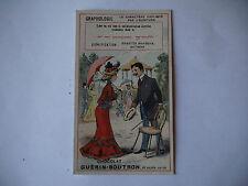 CHROMO PUBLICITAIRE CHOCOLAT GUERIN-BOUTRON N°198 GRAPHOLOGIE