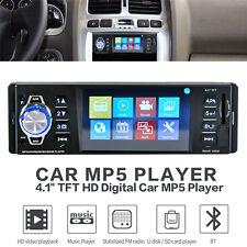 "Bluetooth 4.1"" Screen Car MP5 Player Rear View Camera Audio Stereo Head Unit USB"