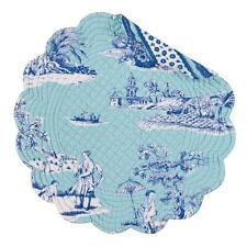 Williamsburg Collection Hampstead Toile Quilted Cotton Round Placemat