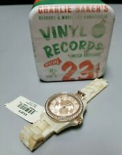 Fossil Women's ES3579 Riley Rose Gold-Tone Watch Pearlized Resin Band FOR PARTS
