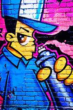 STUNNING POP ART GRAFFITI URBAN STREET ART CANVAS #727 QUALITY GRAFFITI PICTURE