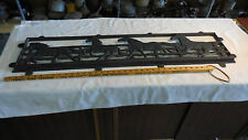 Nice  41 x 9.5 inches Cast Iron 4 Horses Running 17lbs. Sign/Window Cover