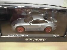 Porsche 911 GT3 (991) 2013 - silber-met., Felgen rot - cartima customized 1:43