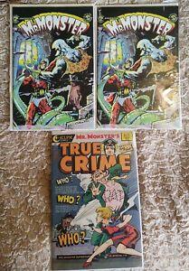 Doc Stearn…Mr. Monster #1 2x & True Crime 1  Eclipse Comics