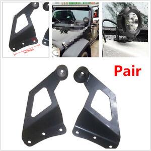 Car SUV Off-road Roof LED Light Strip Bracket Upper Bar Mounting Holder 8mm Hole