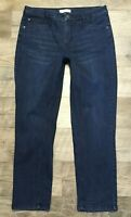 J. Jill Jeans 10 Smooth Fit Slim Ankle Blue Stretch Dark Wash Whiskered