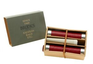 Brooks Slender Leather Grips 130mm Maroon Bike Grips Pair Italy NEW in Box