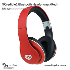 Ncredible1 Wireless Bluetooth Headphones (Red), by Nick Cannon and RadioShack
