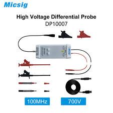 Micsig Oscilloscope High Voltage Differential Probe Kit Dp10007 700v 100mhz New