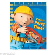 (8) BOB THE BUILDER Ruler INVITATIONS ~ Birthday Party Supplies Stationery Cards