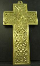 Irish Brass Hand Crafted Ireland Cross ( Medium )