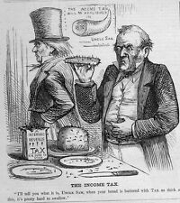 UNCLE SAM BREAD BUTTERED WITH TAX INCOME TAX ABOLISHED INTERNAL REVENUE SERVICE