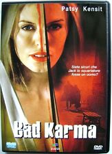Dvd Bad Karma con Patsy Kensit 2001 Usato editoriale