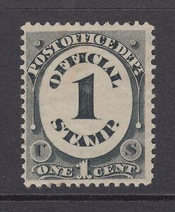 US Sc O47 MOG. 1873 1c black Post Office Dep't Official, offset on gum