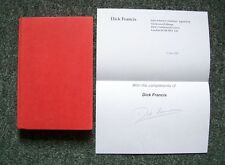 DICK FRANCIS ENQUIRY 1/1 UK HB 1969 WITH SIGNED A4 COMPLIMENT'S PAGE NICE
