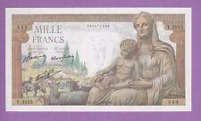 (Ref: Y.333) 1000 FRANCS DÉMÉTER 28/01/1943 (NEUF-)