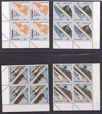 4x Suriname 1134-11** Dreieckmarken Eisenbahn,Lokomotive,Viererblock Eckrand