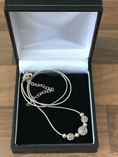Sterling Silver Necklace Mesh Balls