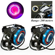 1500LM Spotlight Halo Projector Lens Motorcycle Colorful LED Headlight Spot Lamp
