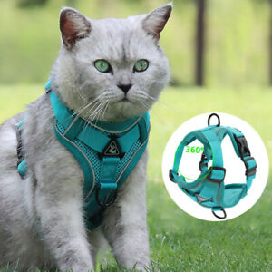 Dog Harness No Pull Reflective Dogs Harness Puppy Vest with 1.5M Dog Leash OS