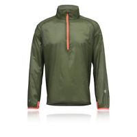 Higher State Mens Green Trail Long Sleeve Half Zip Running Sports Jacket Top