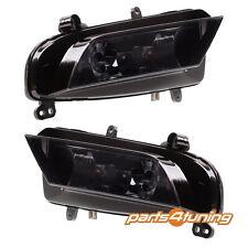 Front Fog Lights Lamps Set Pair AUDI A4 B8 Facelift 2011-2015 Crystal Smoke