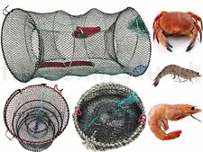 Crab Fish Crayfish Lobster Shrimp Prawn Eel Live Trap Net Bait Fishing Pot Cage