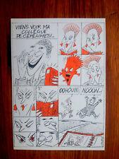 Strip BD collection drague sexe  cartophilia postcard Mennebeuf 1000 ex.