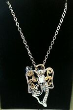 silver color/Christmas present Angel brooch and necklace