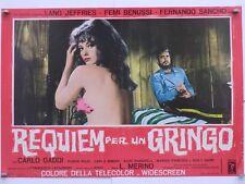 REQUIEM PER UN GRINGO western Merino JEFFRIES BENUSSI SANCHO fotobusta 1968