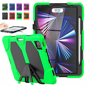 For iPad 7/8th Pro 12.9/11/10.5/9.7 Shockproof Stand Case Cover Screen Protector