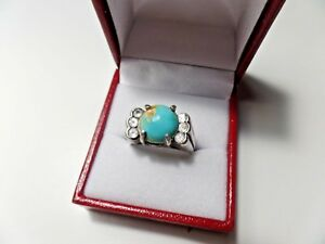NATURAL TURQUOISE/NATURAL SPINEL MEN'S RING SCRAP OR NOT