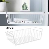 2Pcs Large Under Shelf Storage Basket Rack Kitchen Cupboard Organiser Heavy Duty