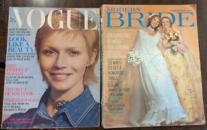 Vintage 1970s VOGUE & Modern Bride Magazine Spring Issue