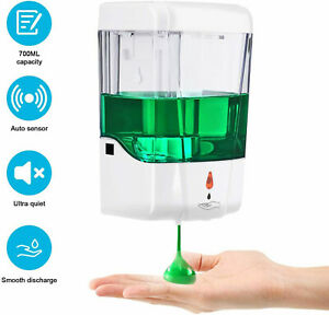 700ML Automatic Soap Dispenser Sanitizer Hands-Free IR Sensor Touchless Wall