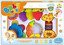 6-PC Baby Toys set Sensory Rattles Teethers toys Set Newborn Toys Rattles Pack