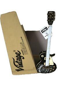 Vintage Electric Guitar Branded Jack Daniels ON7 Black Brand New In Box