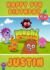 Moshi Monsters Personalised Birthday Card Add your own name & age