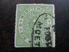WURTTEMBERG GERMAN STATES Mi. #36 stamp w/ Postablagestempel! CV $240.00