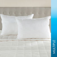 600 FILL POWER OVERSTUFFED WHITE GOOSE DOWN PILLOW - SOFT/MEDIUM/FIRM DENSITY