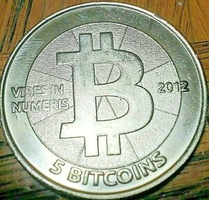 Casascius Bitcoin  blank.  No BTC value.  Authentic item.  2012  5 BTC BITNICKEL