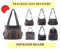 Ladies long strap Multi Pocket PU Leather Messenger Cross body Bag Handbag