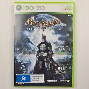 Batman Arkham Asylum - Xbox 360 PAL - w/ Manual - TRACKED POST