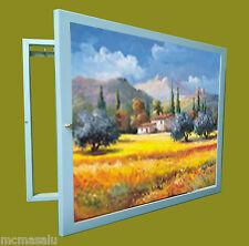 Tapa contador cuadro de luz Moldura c/cuelga llaves 1 puerta,m/ext 34x44x5'7 cm.